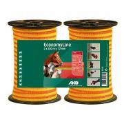 Vp.Szalag Economy Line 2x200m/10mm 60kg Sárga/Narancs