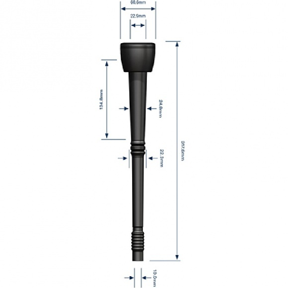 Kehelygumi 23mm Gascoigne-Melotte 155x19x44mm
