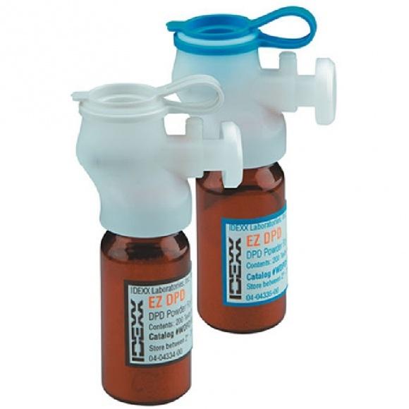 IDEXX 2 db EZ DPD újratöltő ampulla 5 ml-hez és10 ml-hez össz. klór, 400 teszt